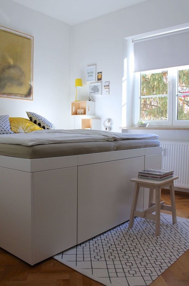 Betten Selber Bauen Die Besten Ideen Und Tipps von Bett Bauen Mit Stauraum Bild
