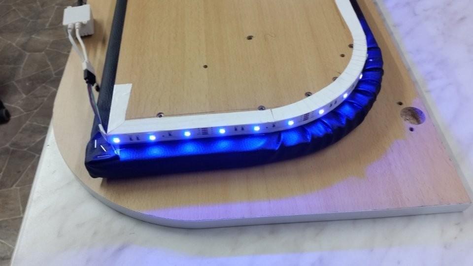 Bettkopfteil Zum Schutz Der Neuen Baumwollputzwand  Heimwerkerblog von Bett Kopfteil Mit Beleuchtung Selber Bauen Bild