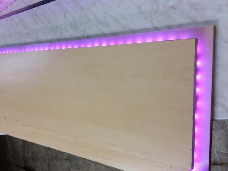 Bettkopfteil Zum Schutz Der Neuen Baumwollputzwand  Heimwerkerblog von Bett Kopfteil Mit Beleuchtung Selber Bauen Photo