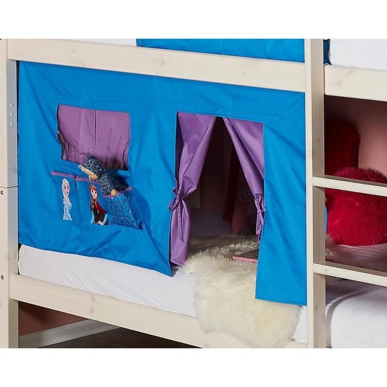 Bettvorhang Frozen (Die Eiskönigin Blau)  Dänisches Bettenlager von Anna Und Elsa Gardinen Photo