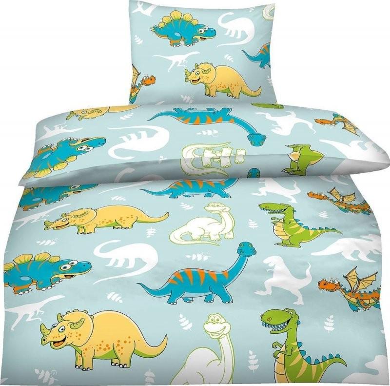 Bettwäsche 100X135 Cm Kinder Mikrofaser Dinosaurier Dino Blau Jungen von Bettwäsche 100X135 Jungen Photo