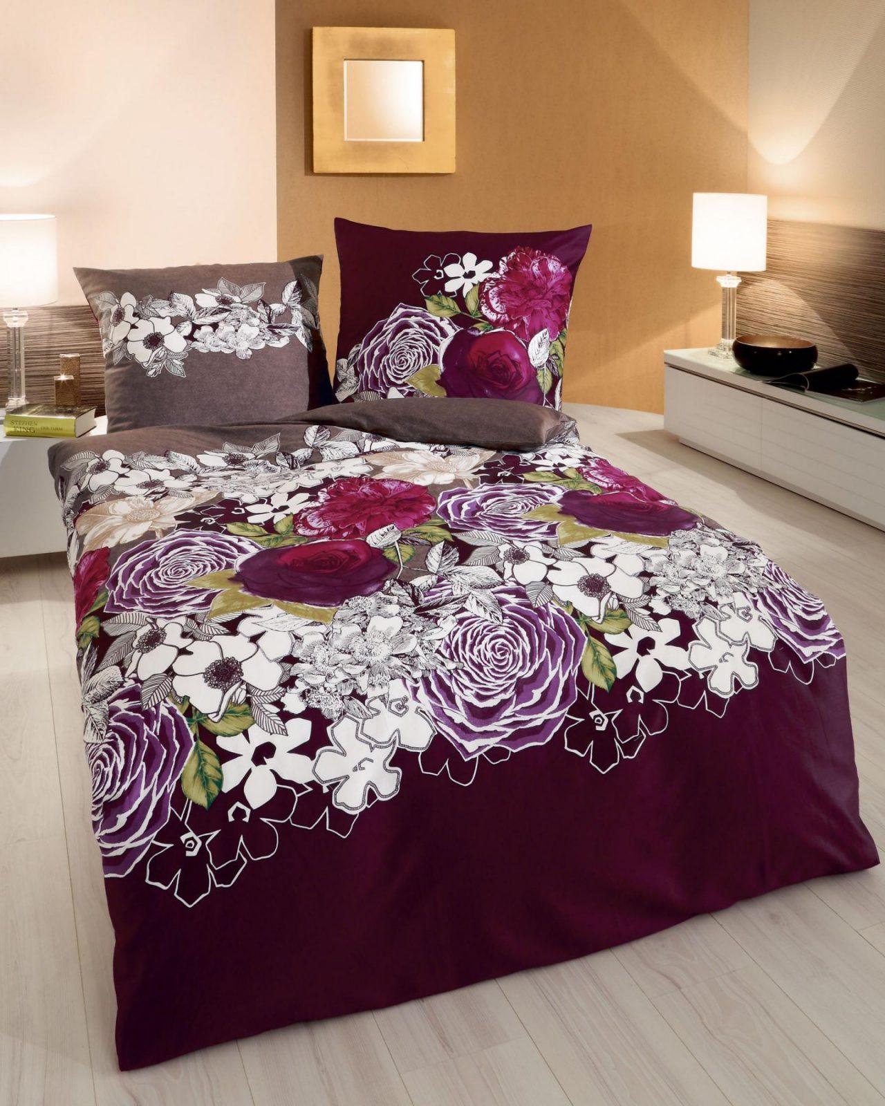 Bettwäsche 155X220 Cm Makosatin Blumenmotiv 419 Von Kaeppel von Mako Satin Bettwäsche 155X220 Photo