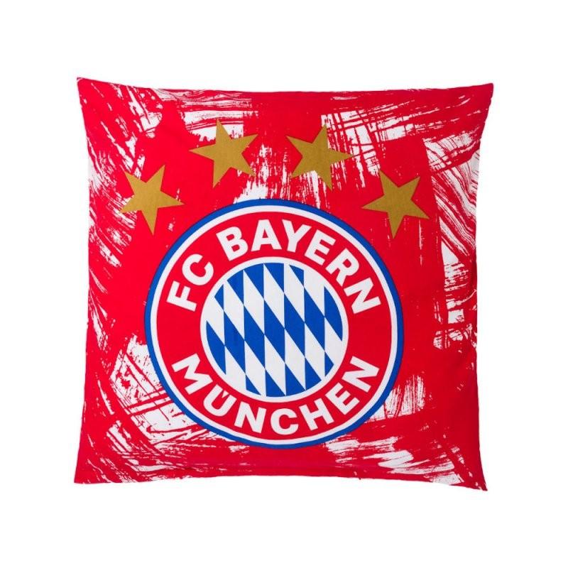 Bettwäsche Biber Rotweiß Fcb Fanartikel 22861  Geschenke Korber von Bayern München Bettwäsche Biber Bild