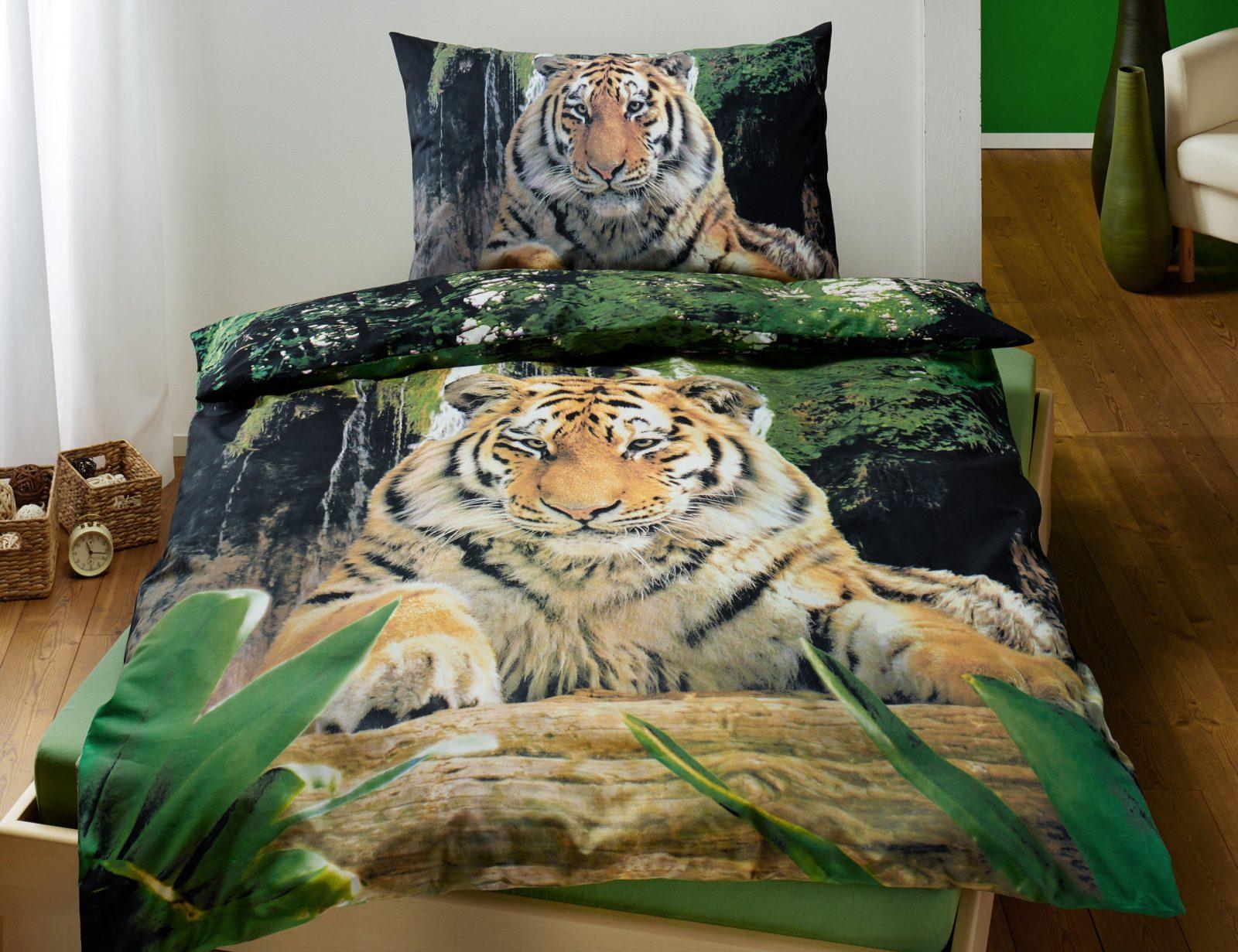 Bettwäsche Mit Tigermotiv Fotodruck Günstig  Bettwaeschech von Bettwäsche Fotodruck Tiere Bild
