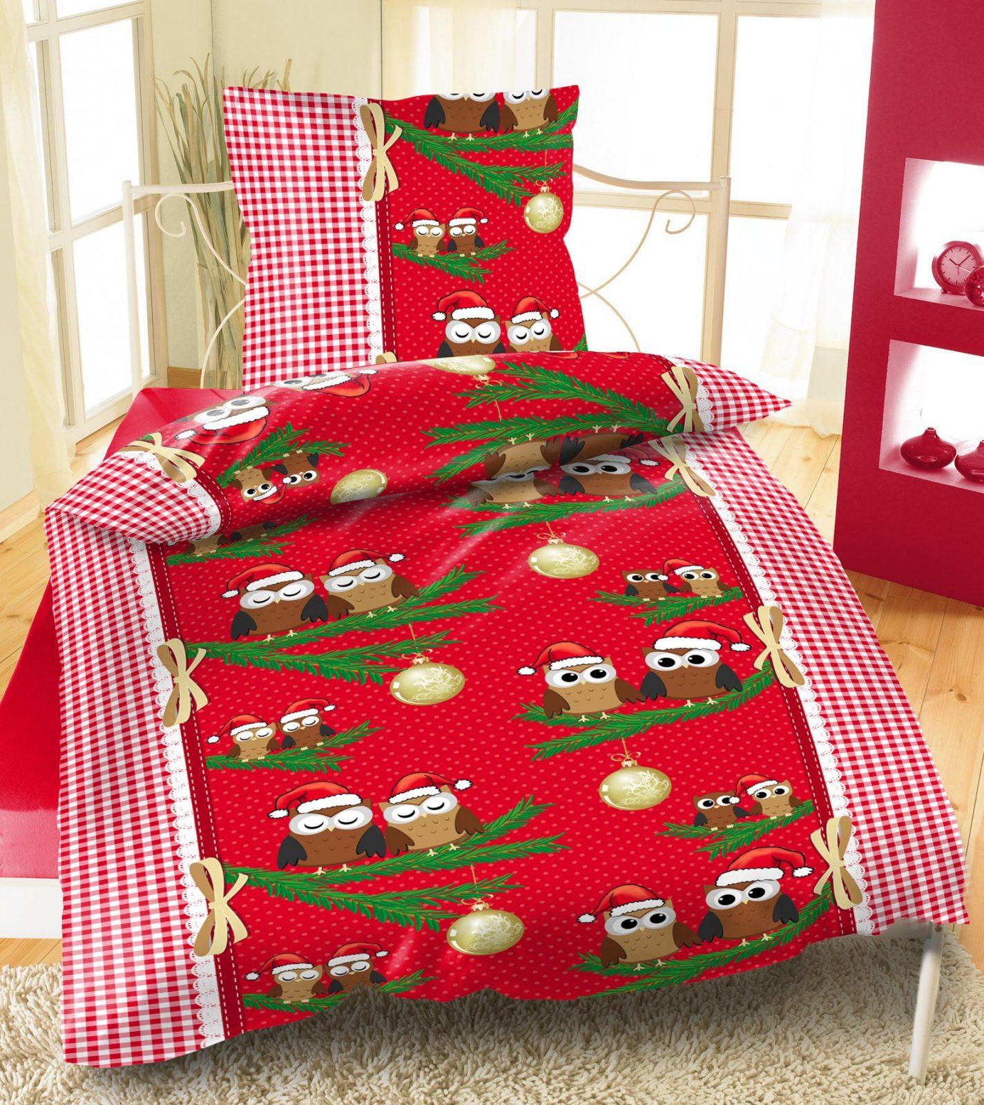 Bettwäsche Thermofleece 135X200 Cm 155X220 Cm 2Tlg 4Tlg Weihnachten von Bettwäsche Eule 155X220 Bild