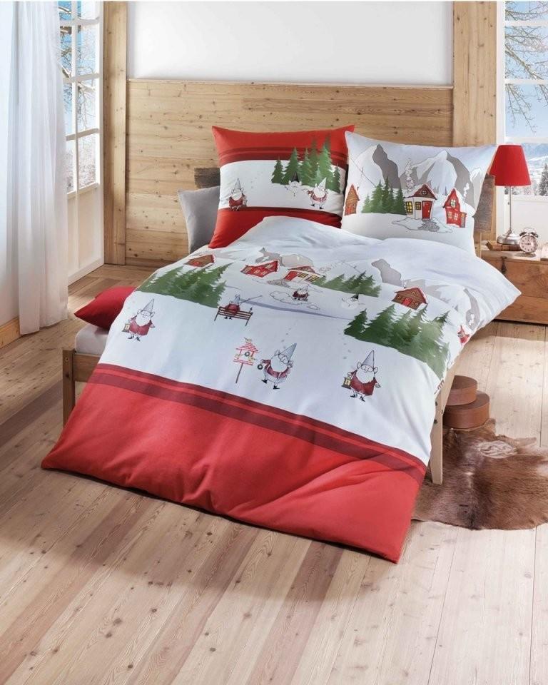 Biber Bettwäsche Für Weihnachten 135X200  155X220 In Rot von Kaeppel Biber Bettwäsche 155X220 Photo