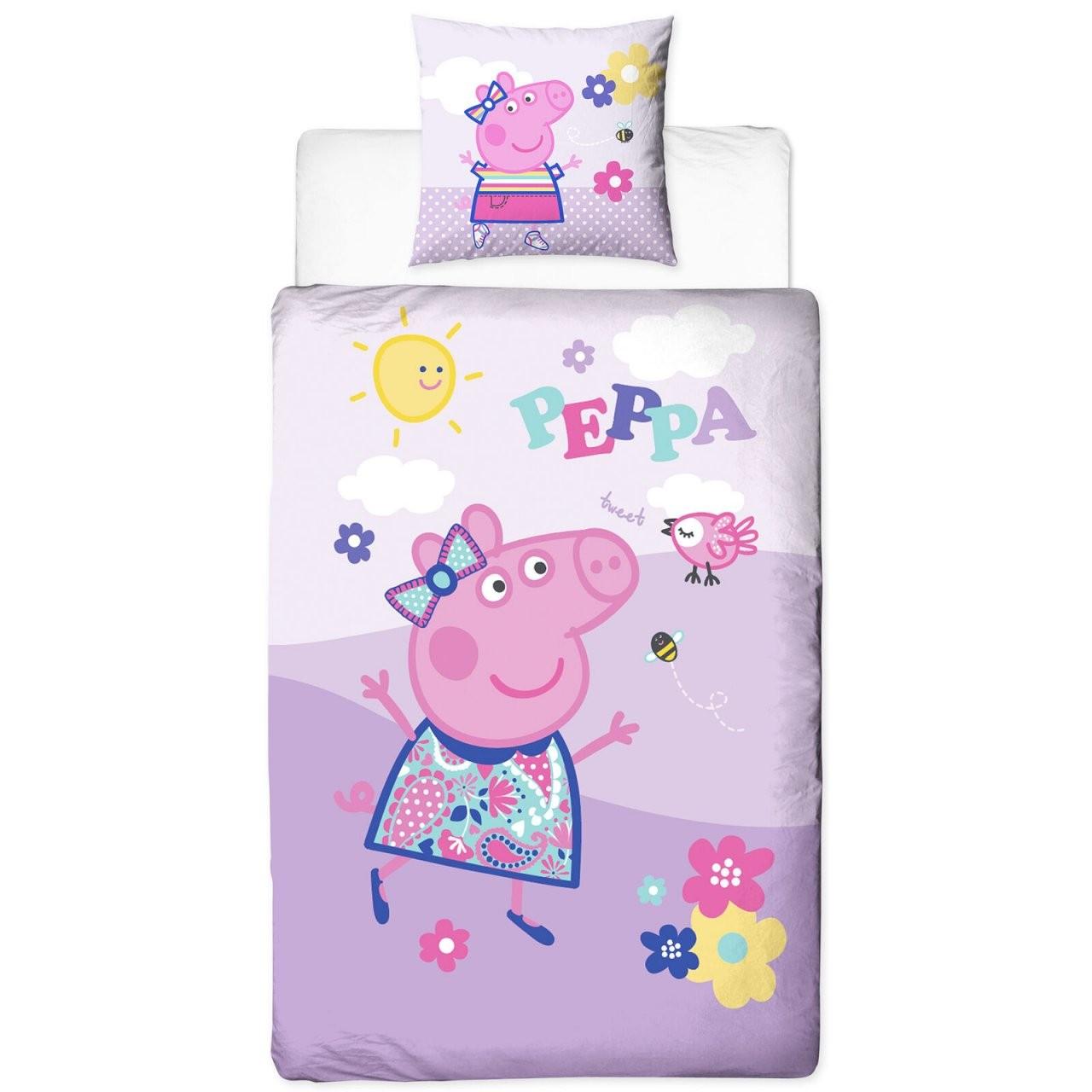 Biber Bettwäsche Peppa Wutz Pig 135X200+80X80Cm Bettzeug 100 von Bettwäsche Biber Mädchen Bild