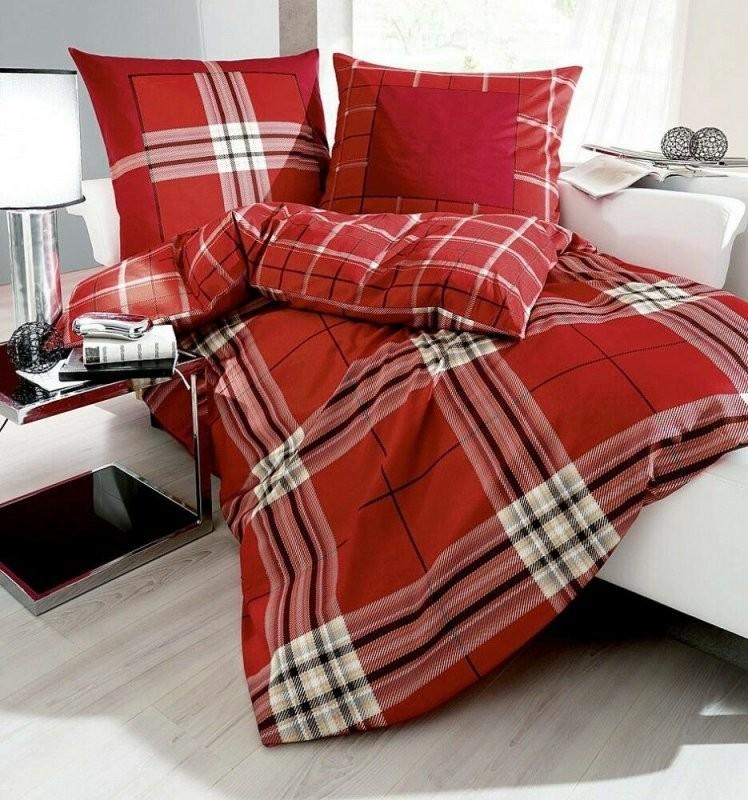 Biber Bettwasche Rot  Angebote Auf Waterige von Kaeppel Biber Bettwäsche 155X220 Bild