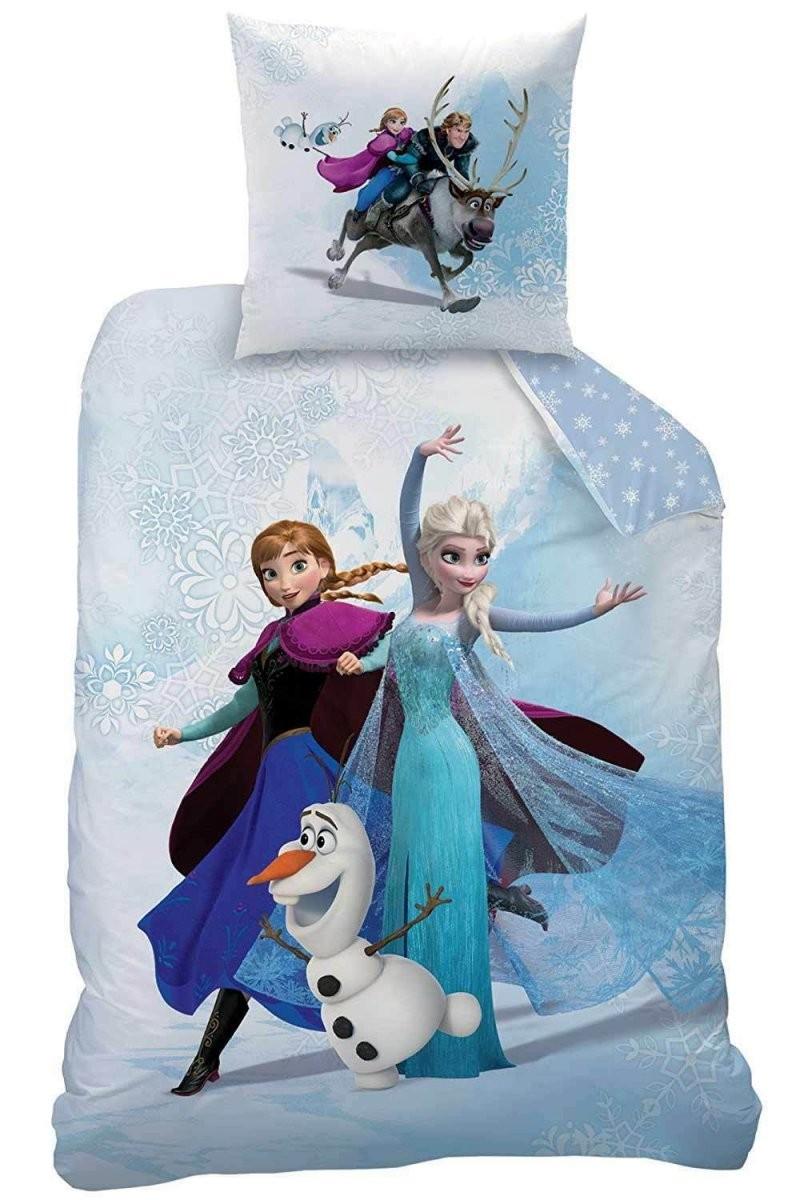 Biber Kinder Bettwäsche 135200 + 8080 Die Eiskönigin Frozen Enjoy von Anna Und Elsa Bettwäsche Biber Bild