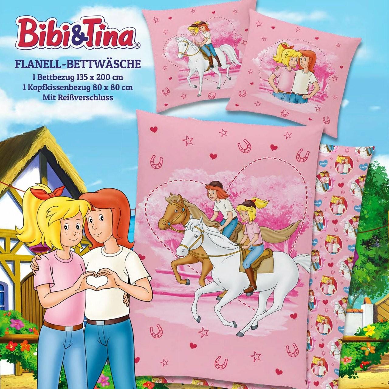 Biber Kinderbettwäsche Bibi Und Tina Freunde 135X200+80X80 von Bettwäsche Bibi Blocksberg Photo