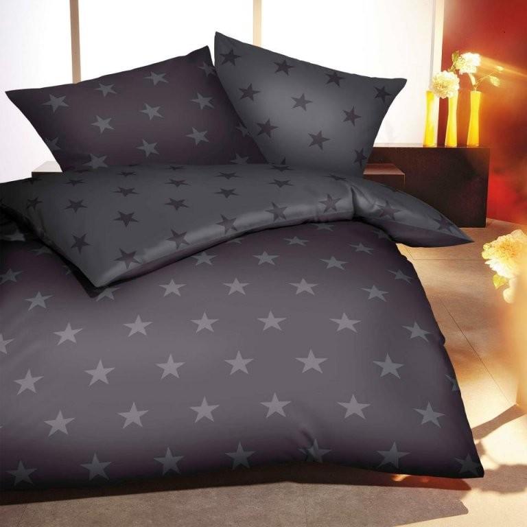 Biberbettwäsche Stars (135X200 Anthrazitgrau)  Dänisches Bettenlager von Biber Bettwäsche Dänisches Bettenlager Bild