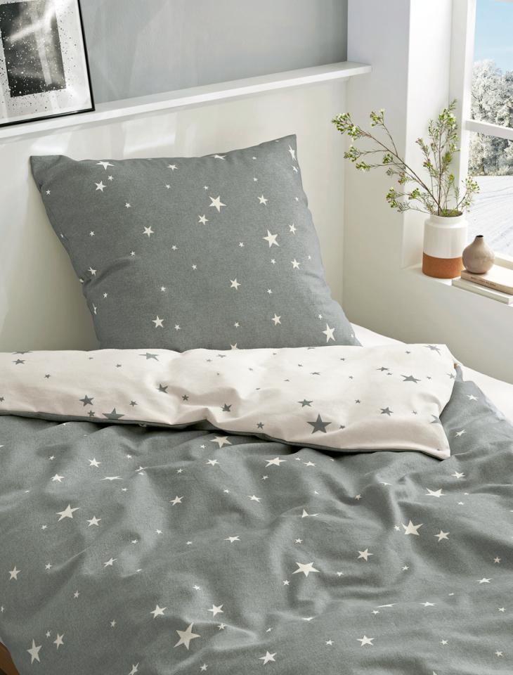 Bierbaum Biber Bettwäsche 135X200Cm 2 Tlg Sterne Stars Grau Weiß von Bierbaum Biber Bettwäsche 135X200 Bild