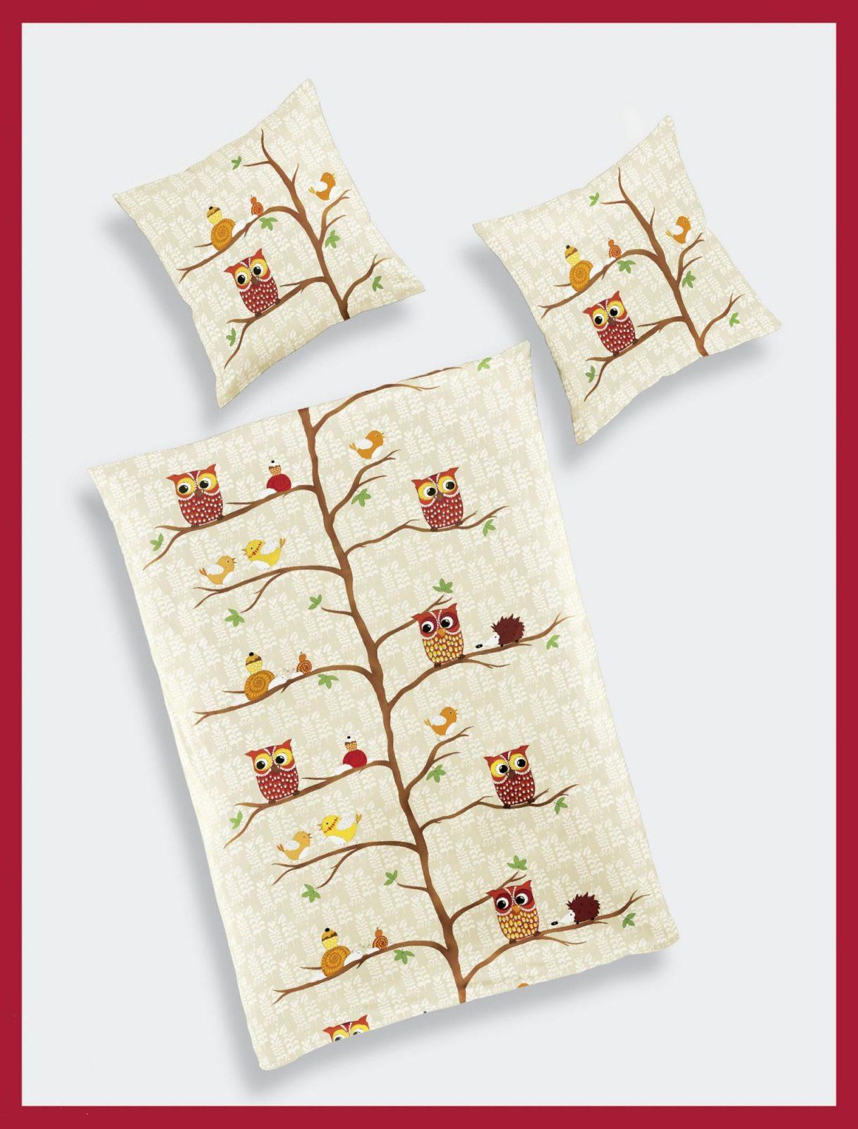 Bierbaum Kinderbiberbettwäsche Eulen 2361 135 X 200 Cm  Betten von Bierbaum Biber Bettwäsche 135X200 Bild