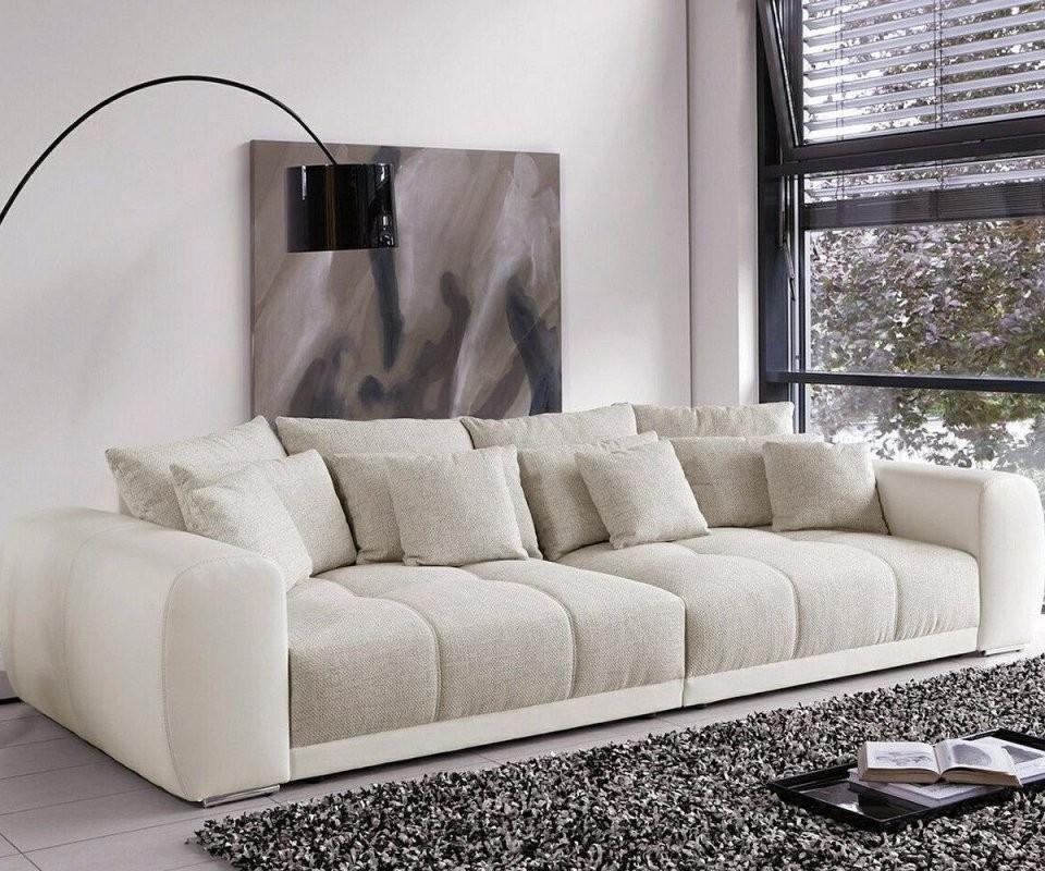 Big Sofa Valeska 310X135 Cm Grau Cremeweiss Beige 12 Kissen von Big Sofa Billig Kaufen Bild