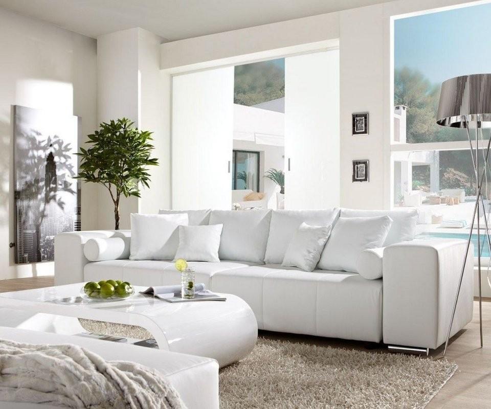 Bigsofa Marbeya 290X110Cm Weiss Mit Schlaffunktion Möbel Sofas Big von Ecksofa Mit Schlaffunktion Gebraucht Photo