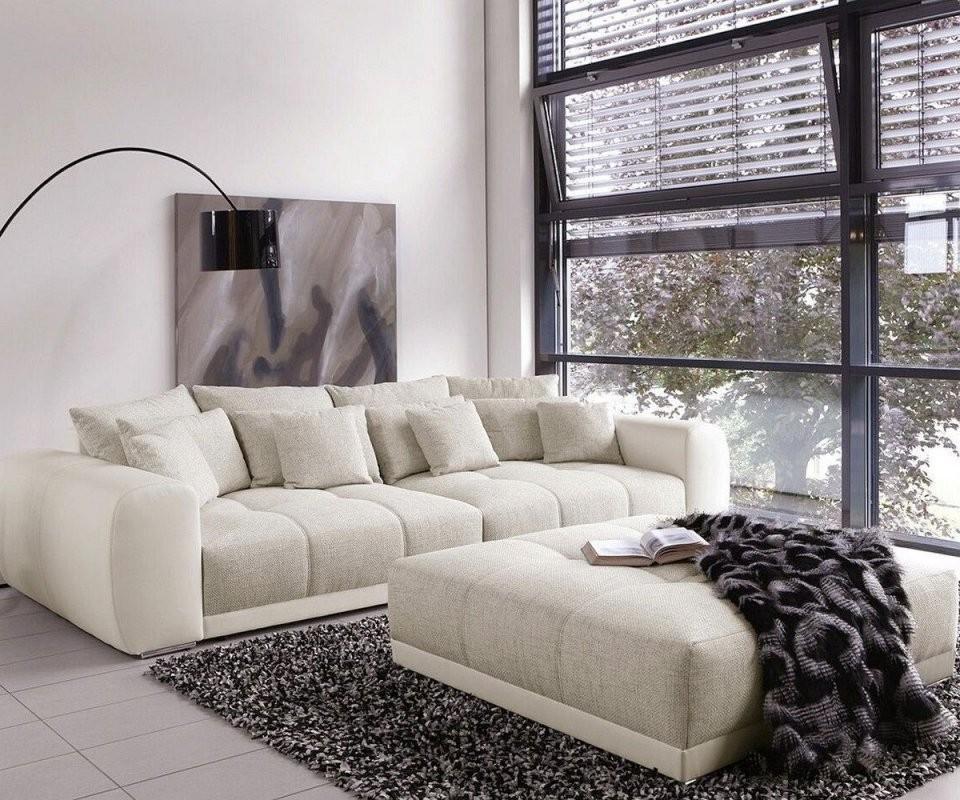 Bigsofa Valeska 310X135 Mit Hocker Grau Cremeweiss  Home Style von Big Sofa Billig Kaufen Bild