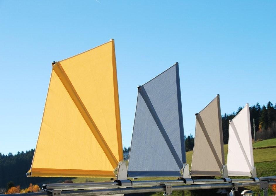 Bikatec Schirmsysteme  Balkonfächer  Wind Und Sichtschutz von Balkon Sichtschutz Fächer Ohne Bohren Photo