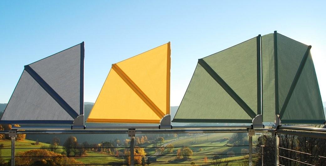 Bikatec Schirmsysteme  Balkonfächer  Wind Und Sichtschutz von Sichtschutz Balkon Ohne Bohren Bild