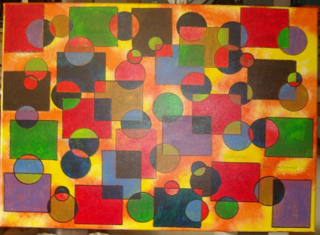 Bild  Abstrakt Acrylmalerei Preis Vh Leinwand Auf Keilrahmen Von von Bilder Leinwand Abstrakt Keilrahmen Photo