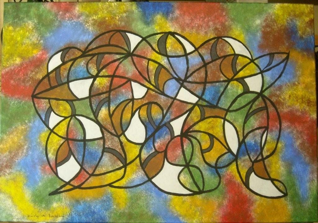 Bild  Leinwand Auf Keilrahmen Abstrakt Acrylmalerei Malerei Von von Bilder Leinwand Abstrakt Keilrahmen Bild