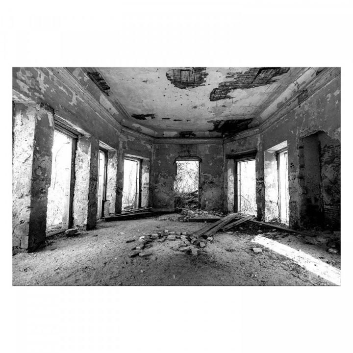 Bild Shabby Hall  Leinwand  Home24 von Leinwandbilder Schwarz Weiß Xxl Photo