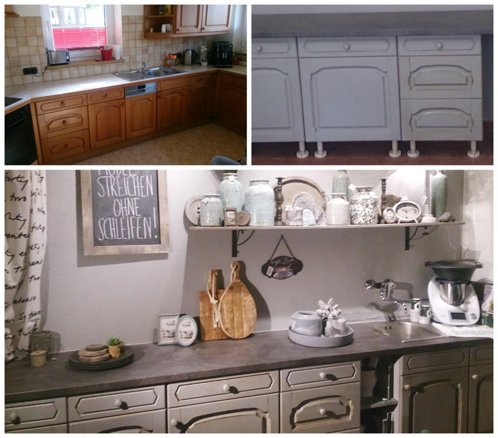 Bilder Diy Möbel Vorher  Nachher von Küchenmöbel Streichen Vorher Nachher Photo