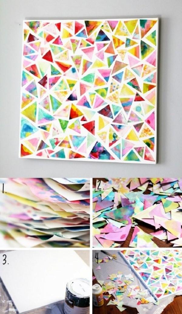 Bilder Selbst Gestalten  14 Diy Wanddeko Ideen von Abstrakte Bilder Selbst Gestalten Bild