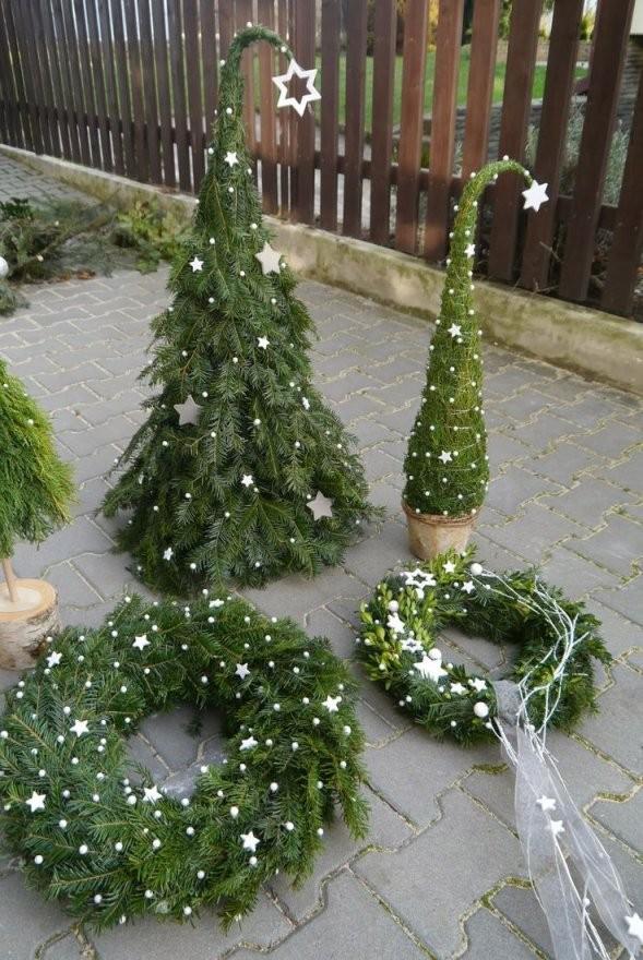 Bildergebnis Für Basteln Mit Tannenzweigen  Vanoce von Weihnachtsdeko Für Draussen Selber Basteln Bild