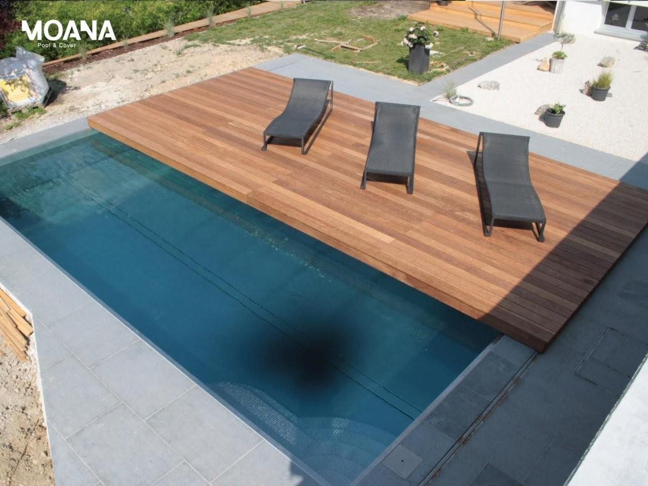 Bildergebnis Für Container Pool Abdeckung  Durchblick von Poolabdeckung Selber Bauen Holz Bild