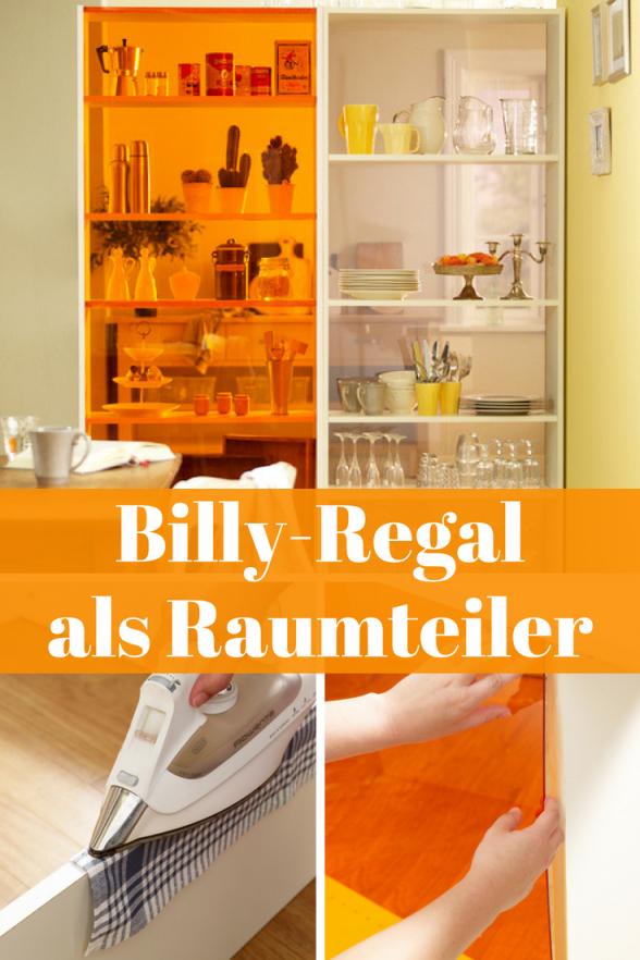 Billyregal Aufpeppen  Regale  Schränke  Billy Regal Raumteiler von Ikea Billy Regal Anleitung Bild
