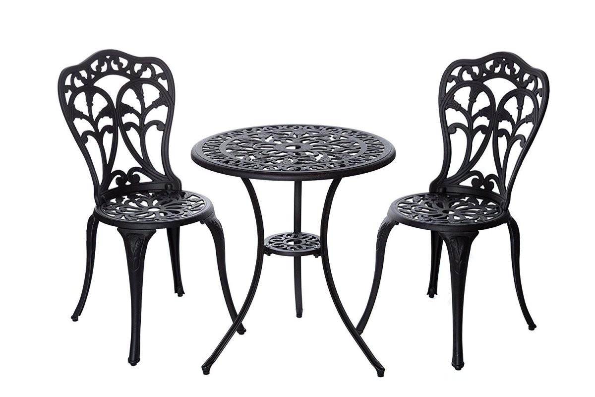 Bistro Tisch Set Bronze Bistroset Mit Tisch Und 2 Stühlen 152402C1550 von Bistrotisch Mit 2 Stühlen Photo