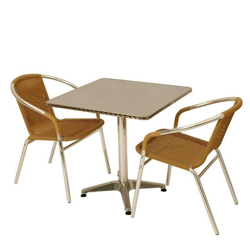 Bistro Tisch Set Mit 2 Stühlen Aus Alu  Kunstrattan  Coprium (3 von Bistrotisch Mit 2 Stühlen Photo