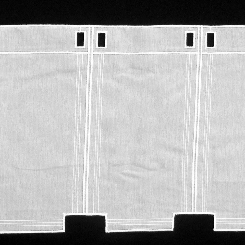 Bistrogardine Scheibengardine Meterware Voile Stickerei Weiß 60Cm von Scheibengardinen Meterware 60 Cm Hoch Bild
