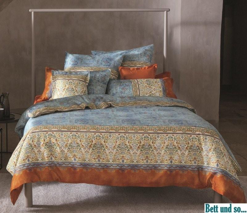 Blau  V3 Bettwäsche Luini Im Maß 155X220 Von Bassetti  Bett Und So von Bassetti Bettwäsche 155X220 Reduziert Photo
