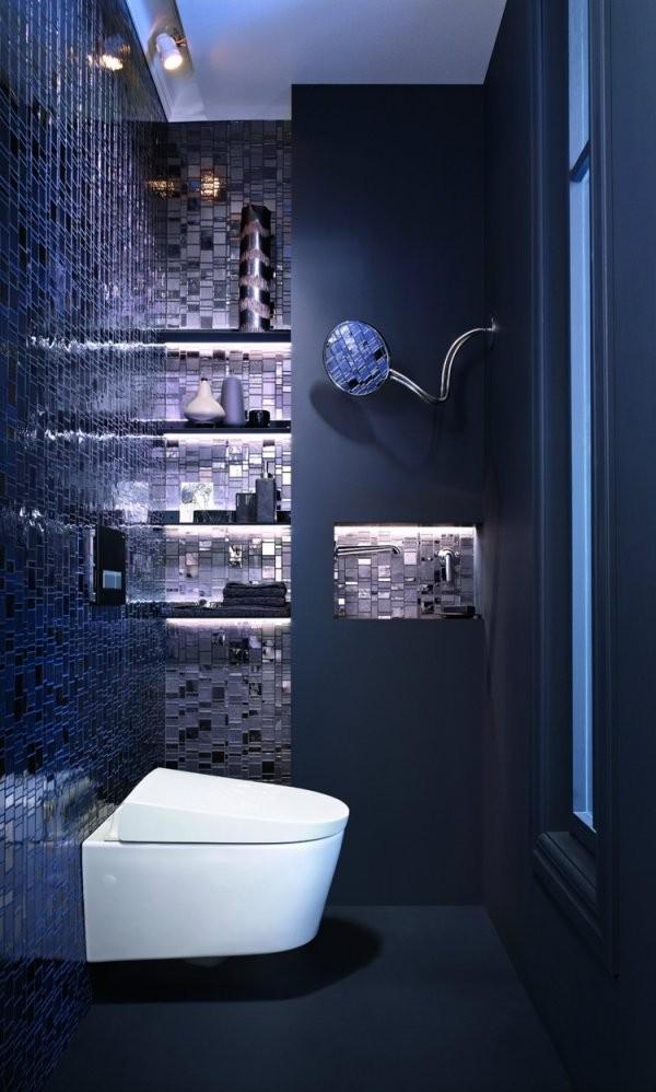 Blaue Fliesen Fürs Badezimmer  25 Moderne Beispiele von Fliesen Fürs Bad Beispiele Bild