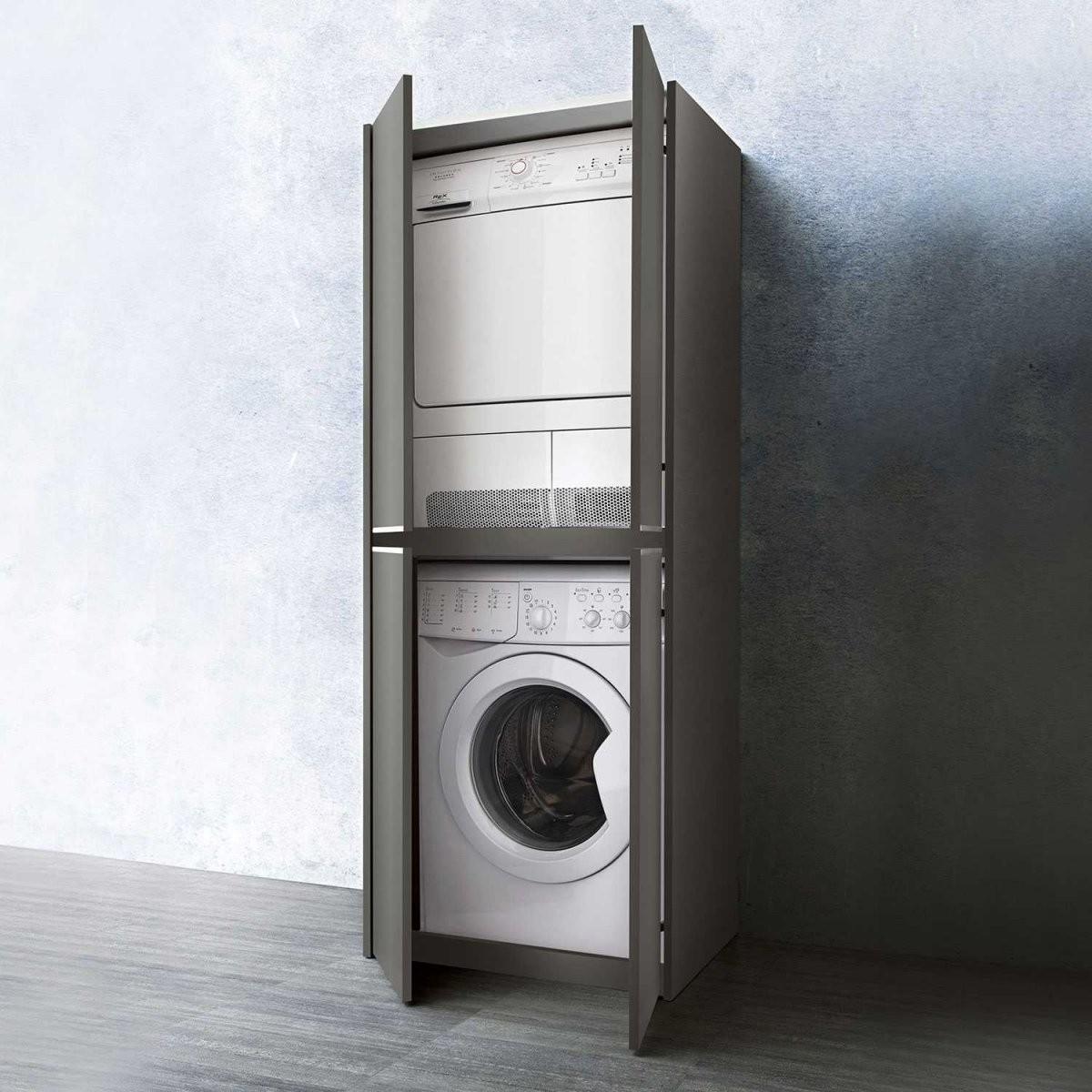 Blizzard Hochschrank Für Waschmaschine Und Trockner  Arredaclick von Schrank Für Waschmaschine Und Trockner Übereinander Ikea Bild