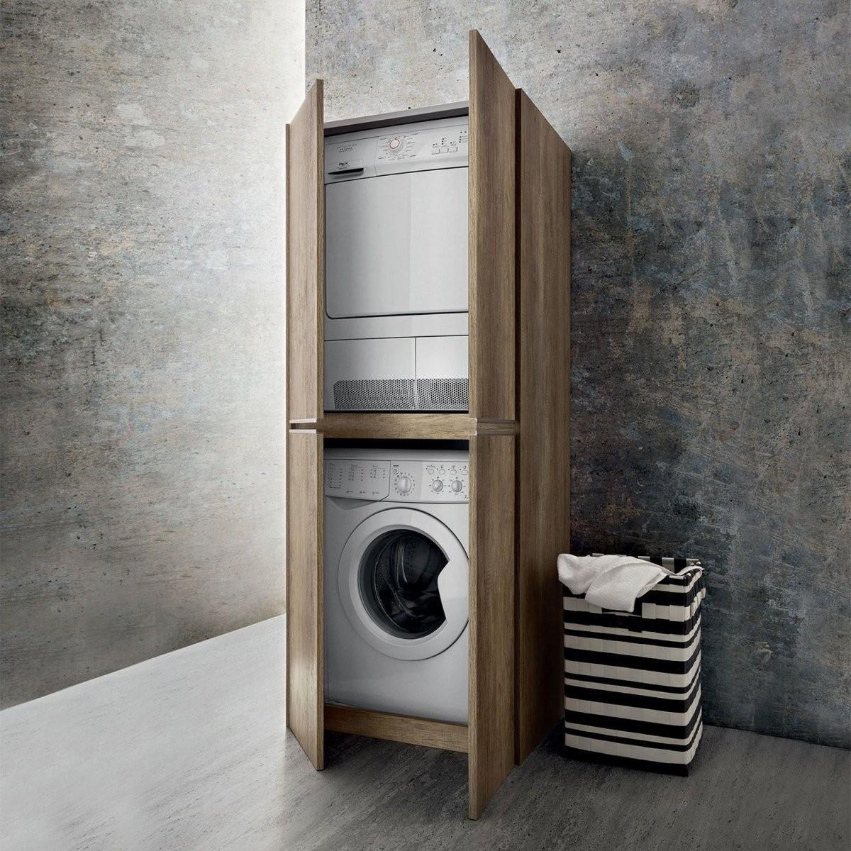 Blizzard Hochschrank Für Waschmaschine Und Trockner  Arredaclick von Schrank Für Waschmaschine Und Trockner Übereinander Ikea Photo