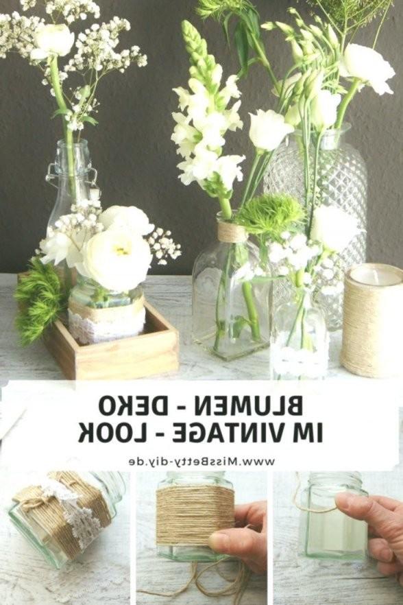 Blumen Deko Im Vintage  Stil Selber Machen Für Hochzeit Als von Vintage Deko Selber Machen Bild