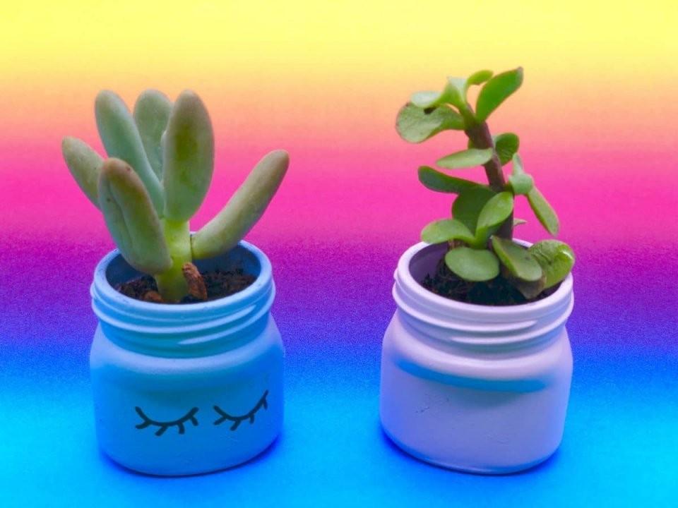 Blumentöpfe Selber Machen Aus Einweggläsern  Einfache Upcycling Ideen von Upcycling Ideen Zum Selbermachen Photo