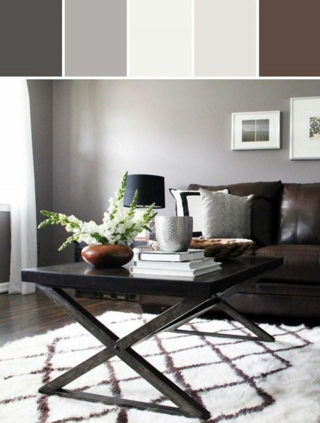 Braune Wandfarbe Entdecken Sie Die Harmonische Wirkung Der von Graues Sofa Welche Wandfarbe Bild