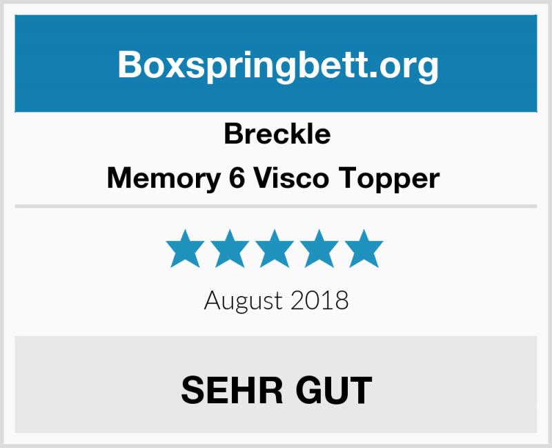 Breckle Memory 6 Visco Topper Boxspringbett Test 2019 von Memory 6 Breckle Visco Topper Photo