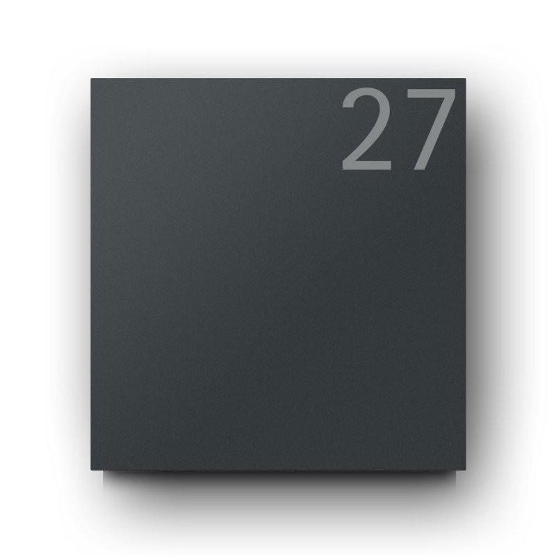 Briefkasten Anthrazit – B1 Light Number 7016 Oz – Briefkasten Und von Edelstahl Briefkasten Mit Hausnummer Bild