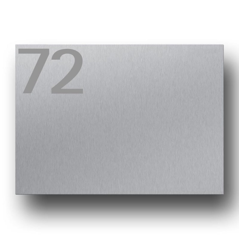 Briefkasten Edelstahl B1 Big Number – Briefkasten Und Türklingel Aus von Edelstahl Briefkasten Mit Hausnummer Photo