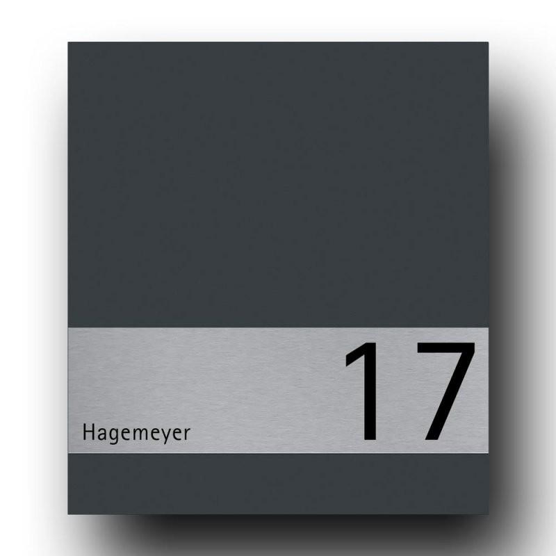 Briefkasten Edelstahl B1 Shield – Briefkasten Und Türklingel Aus von Edelstahl Briefkasten Mit Hausnummer Bild