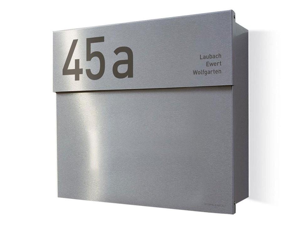 Briefkasten Letterman 4K In Edelstahl Und Mit Klingel  Designbowl von Edelstahl Briefkasten Mit Hausnummer Photo