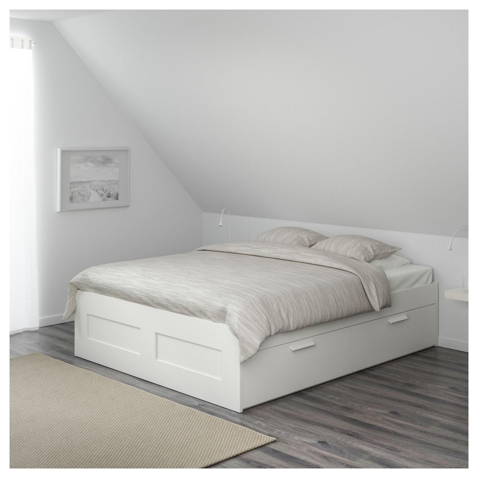 Brimnes Bettgestell Mit Schubladen 180X200 Cm Ikea Stauraum Unter von Ikea Einzelbett Mit Unterbett Bild
