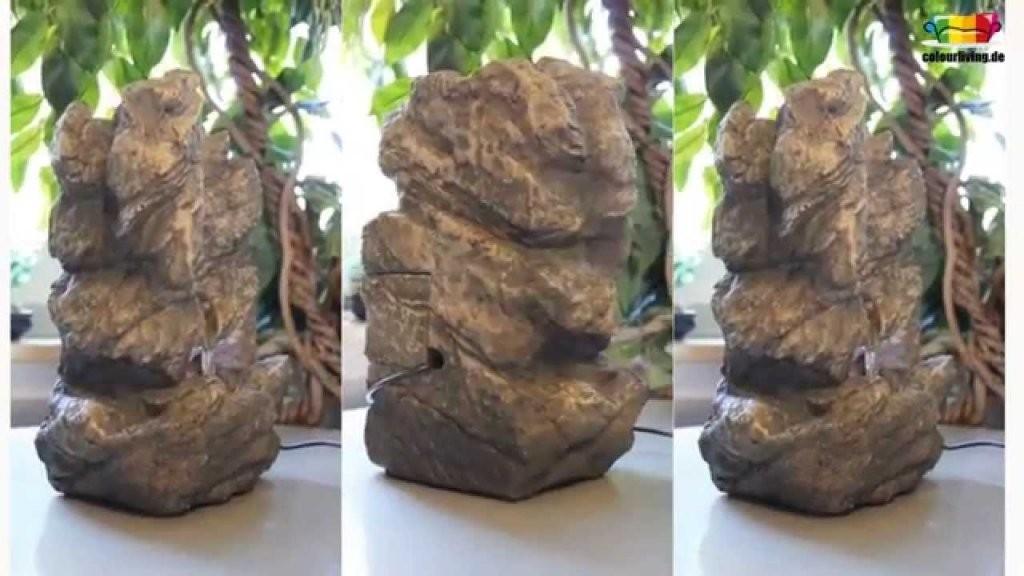 Brunnen Zimmerbrunnen Mit Led Wohnung Entspannung Dekoration In Fels von Zimmerbrunnen Wasserfall Selber Bauen Bild