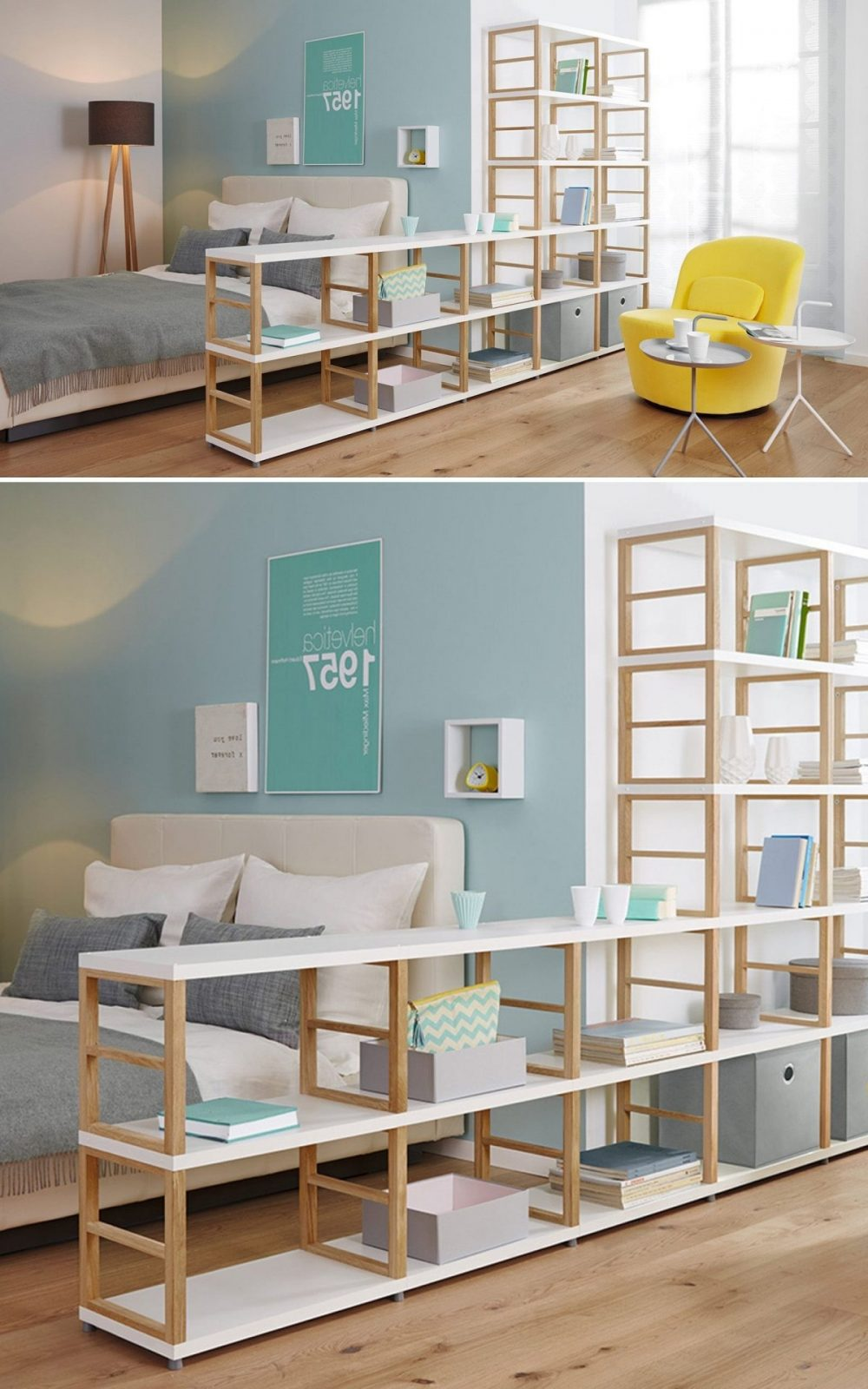Bücherregal Raumteiler Ikea  Schrank Regal von Raumteiler Wand Selber Bauen Photo