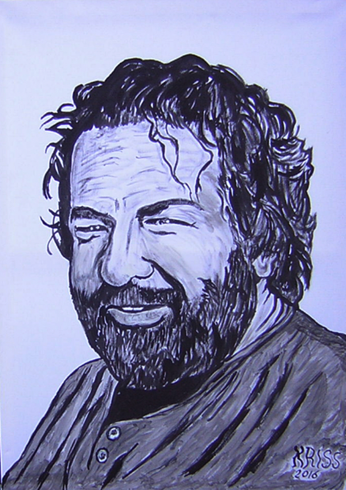 Bud Spencer Paintingkriss  Artmajeur von Bud Spencer Schwarz Weiß Photo