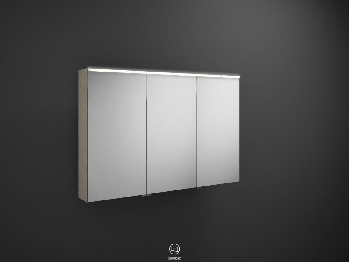 Burgbad Eqio Spiegelschrank Mit Ledbeleuchtung Farbe Wählbar 120 von Spiegelschränke Mit Led Beleuchtung Photo